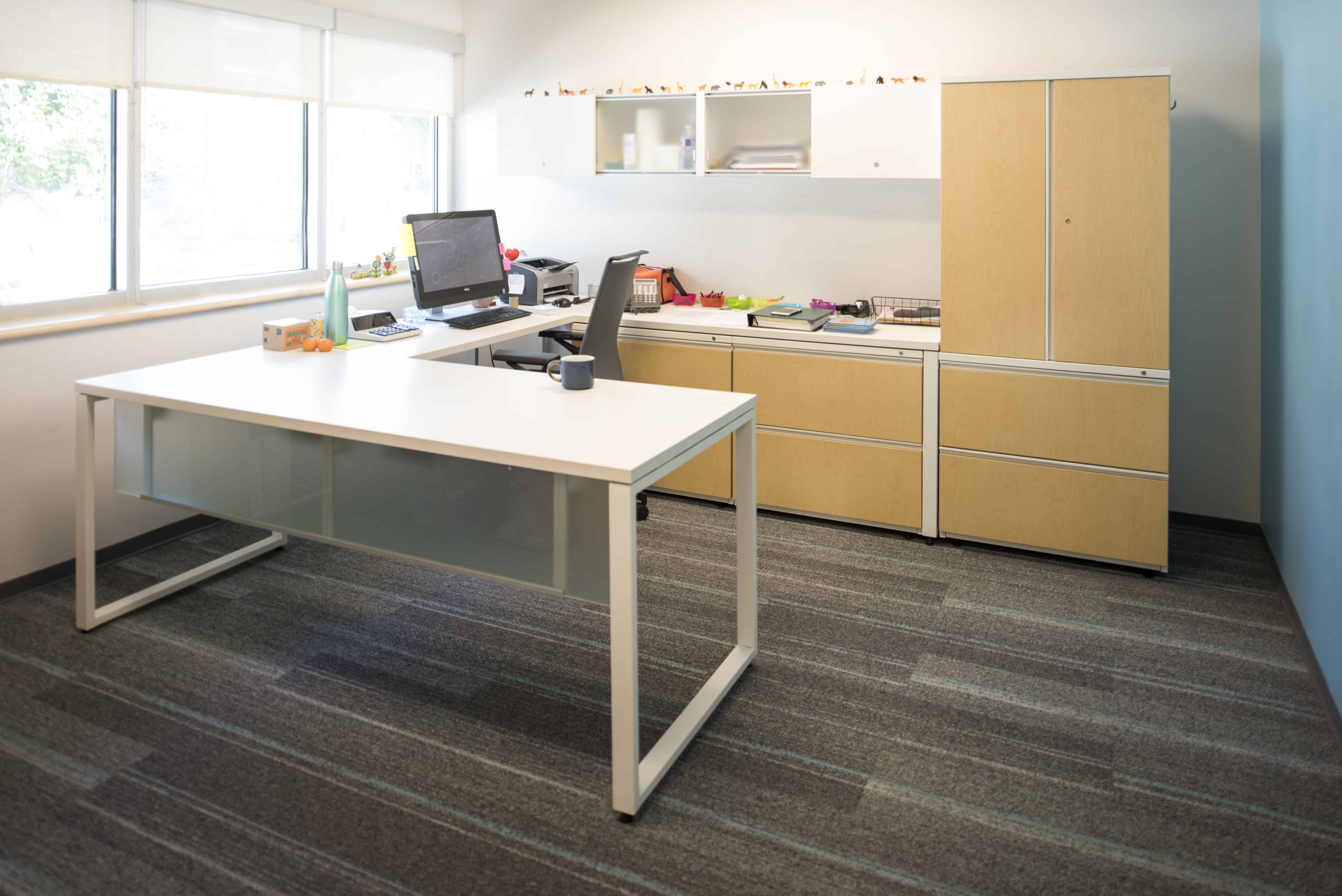 Private office commercial interior space St. Pauls School