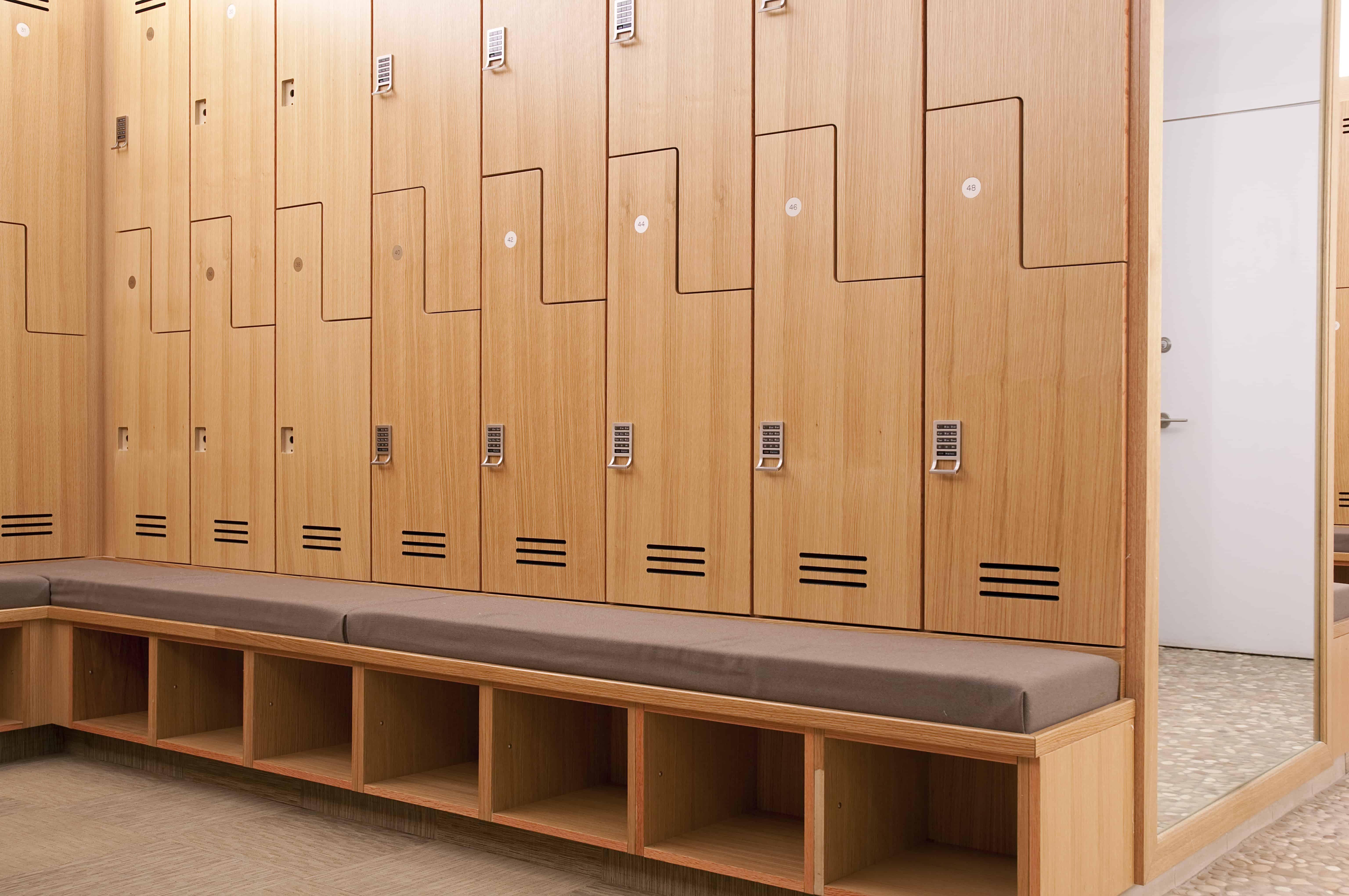 wood locker detail