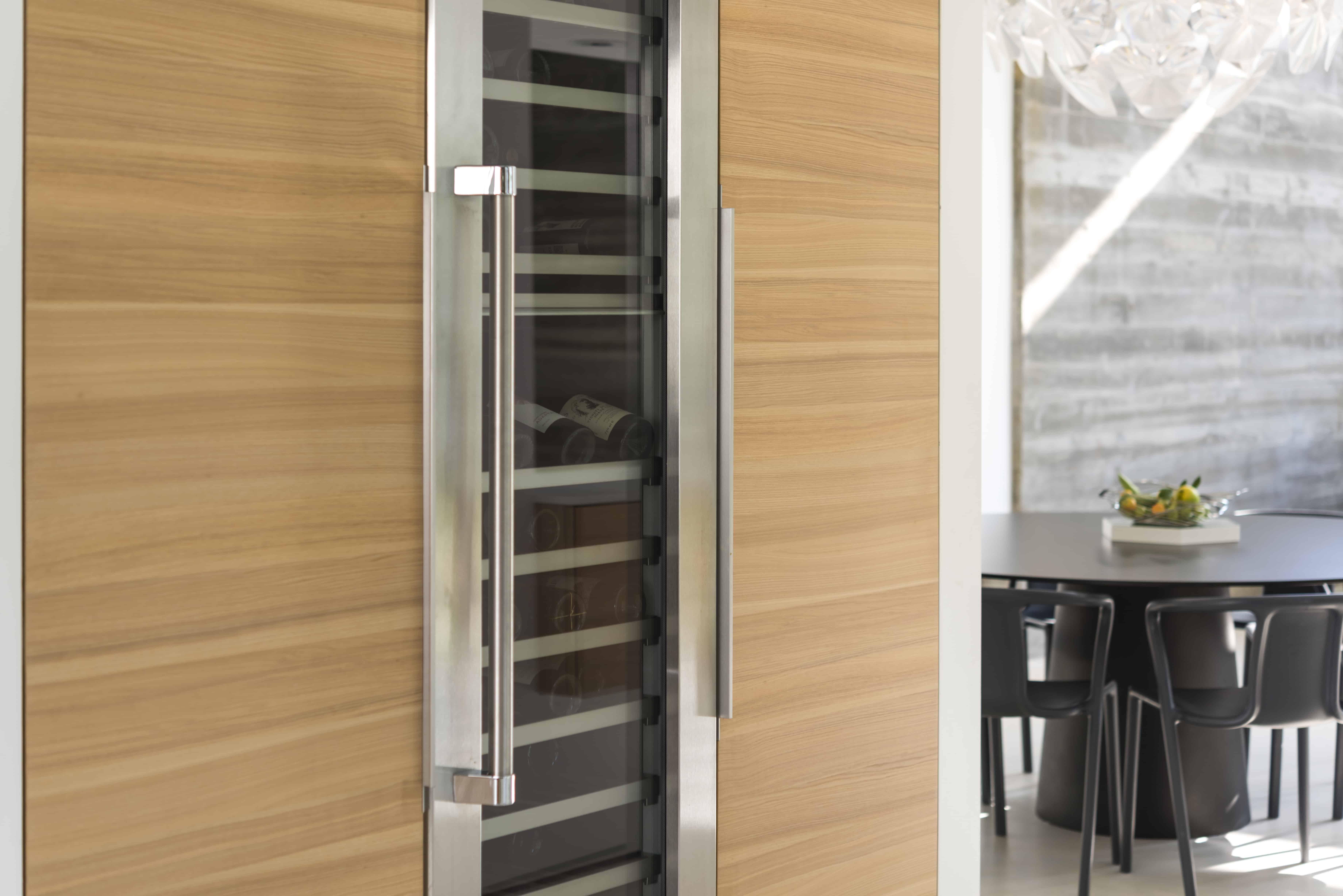 modern wine refrigerator