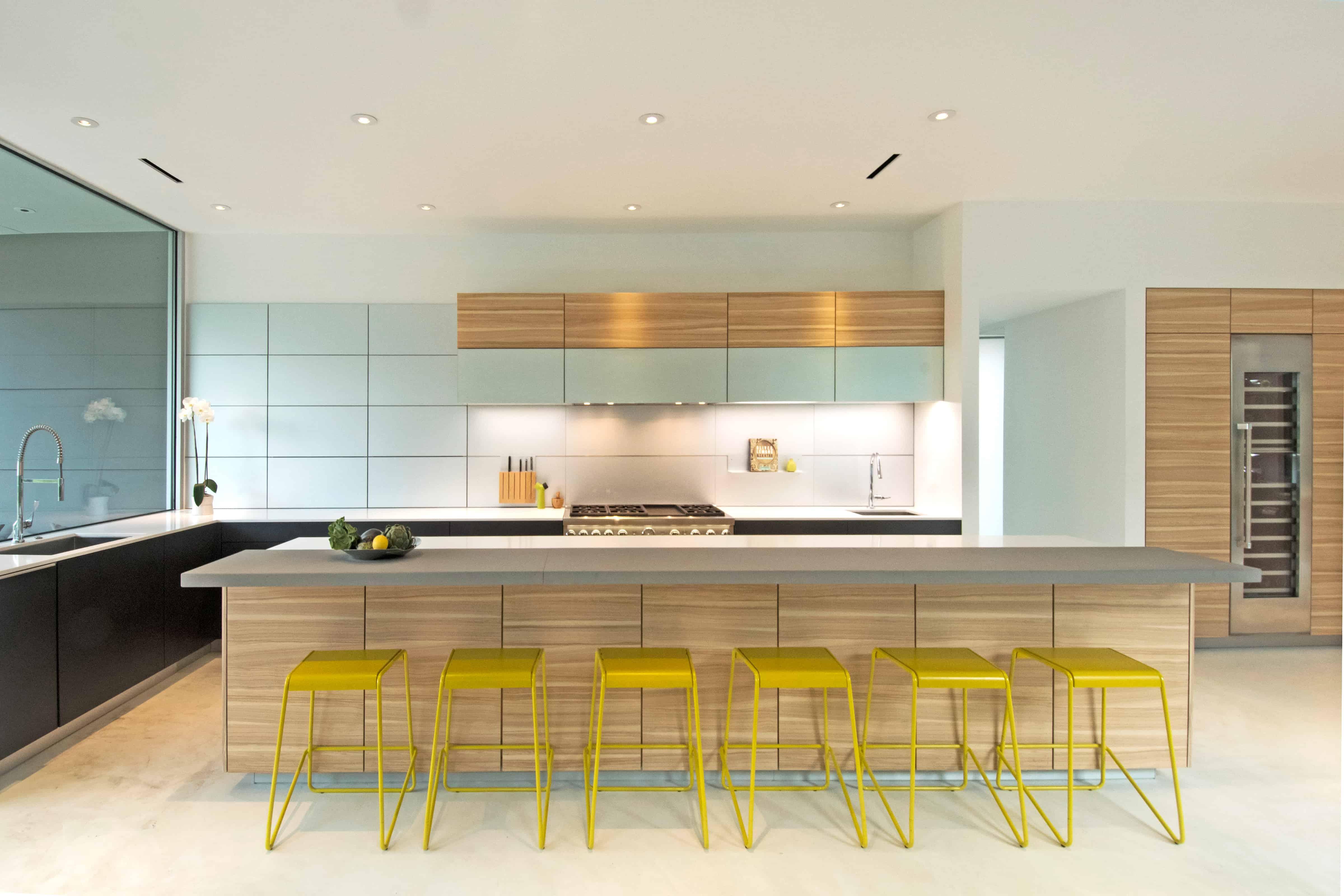 Modern Houston Kitchen Light wood and glass