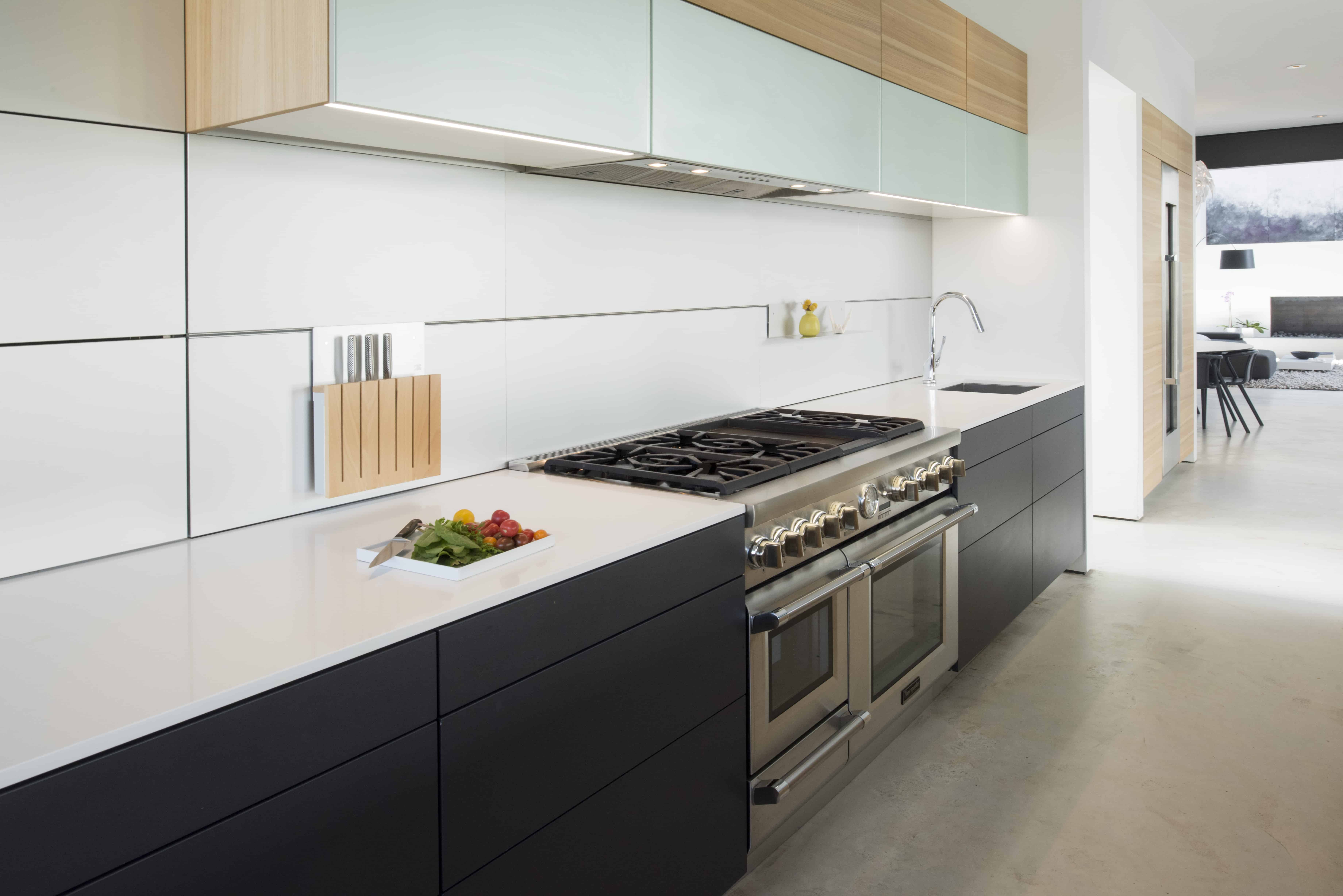 Modern Houston Kitchen grey and glass thermador range