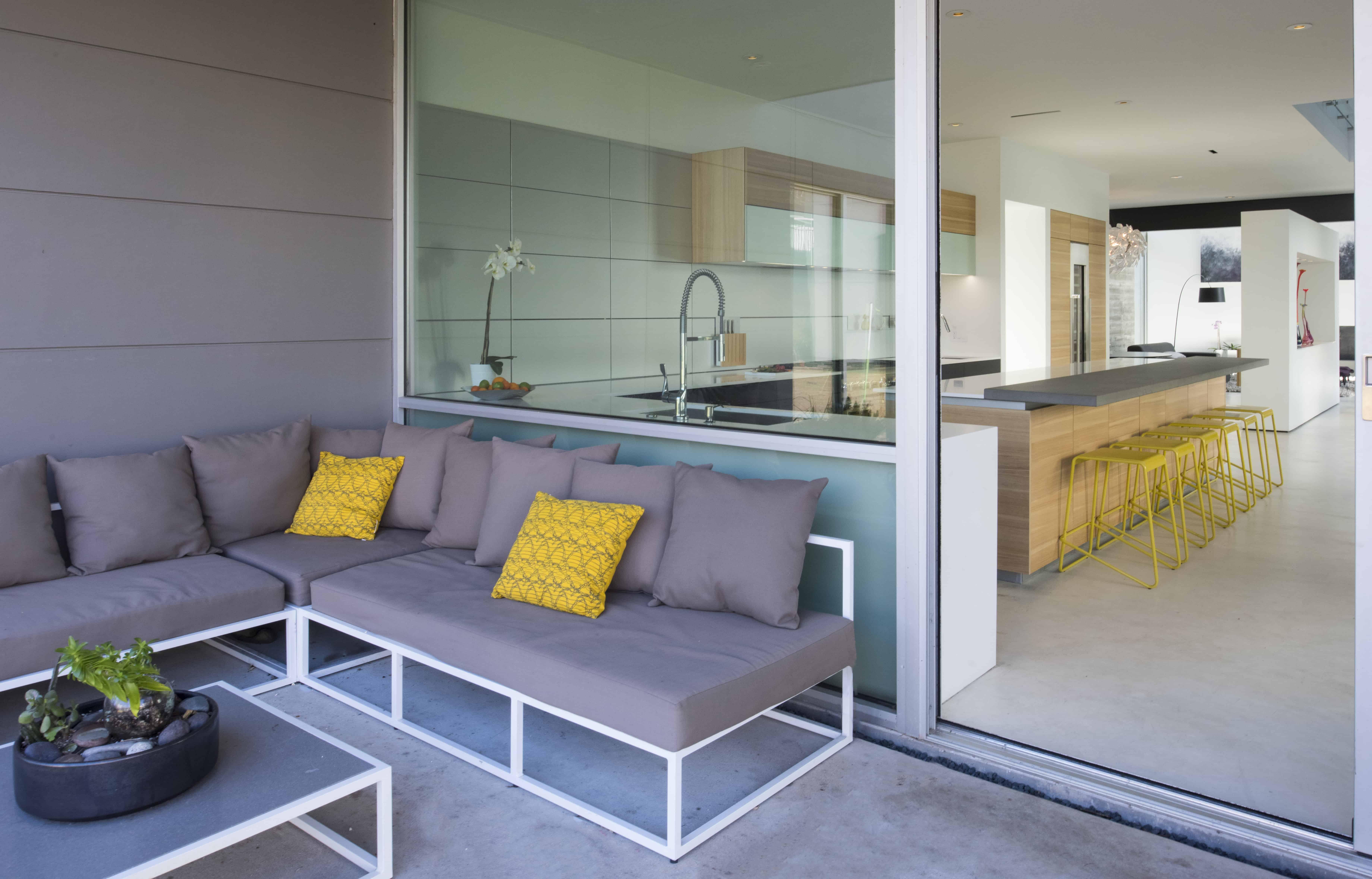 modern patio seating