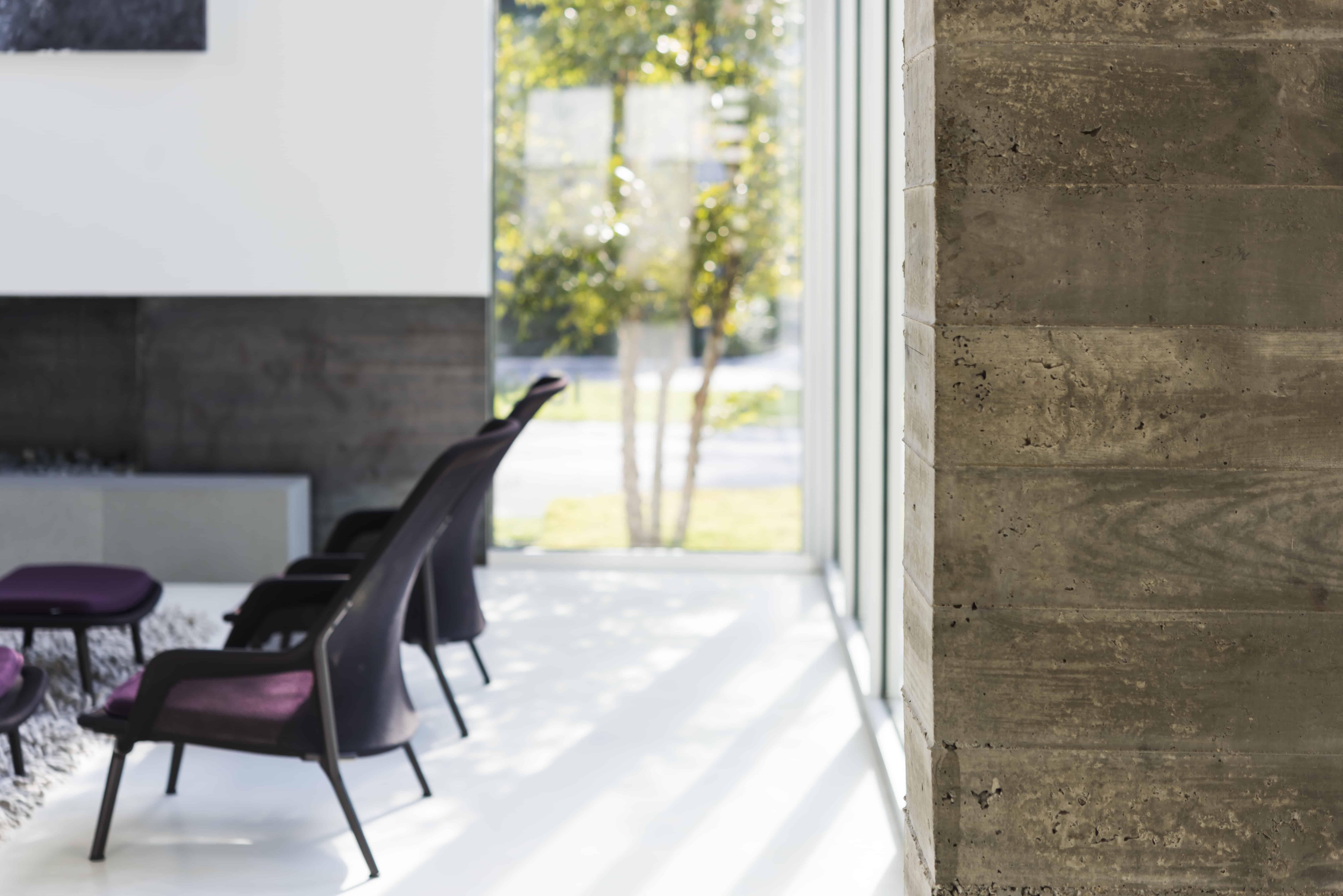 Board Formed Concrete Wall
