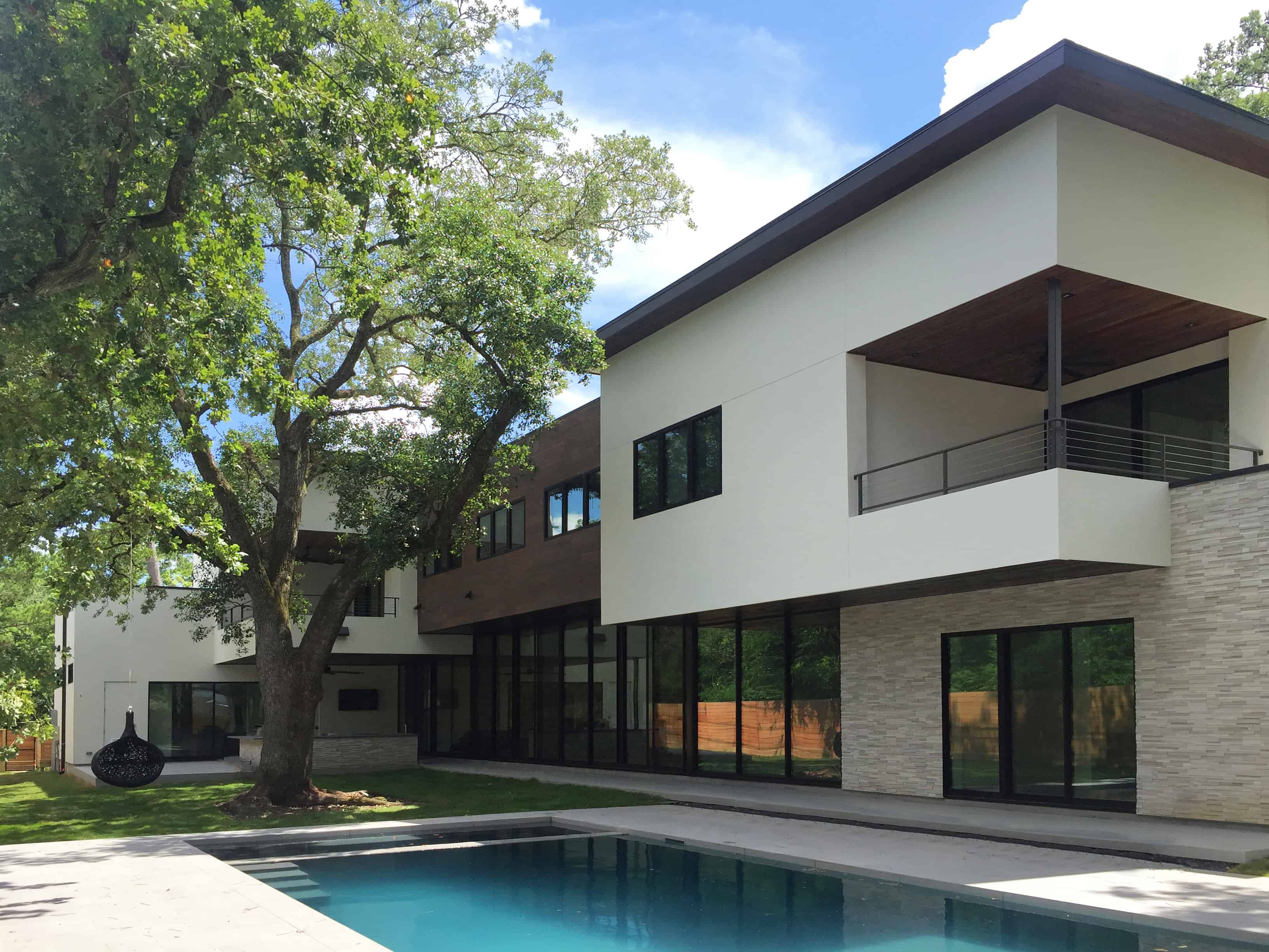 Warm Modern Home Piney Point Memorial Houston with pool