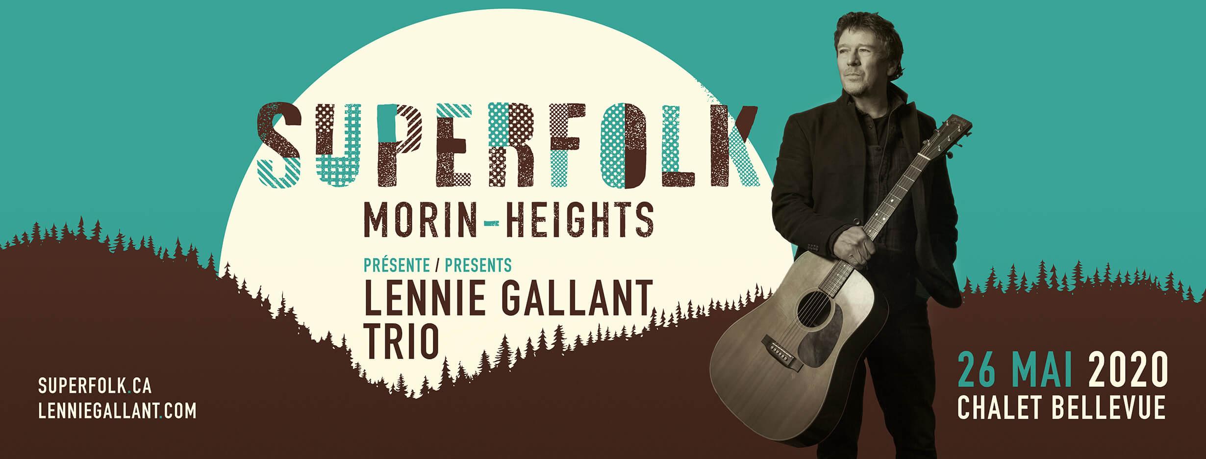 SuperFolk présente Lennie Gallant Trio - SuperFolk presents Lennie Gallant Trio