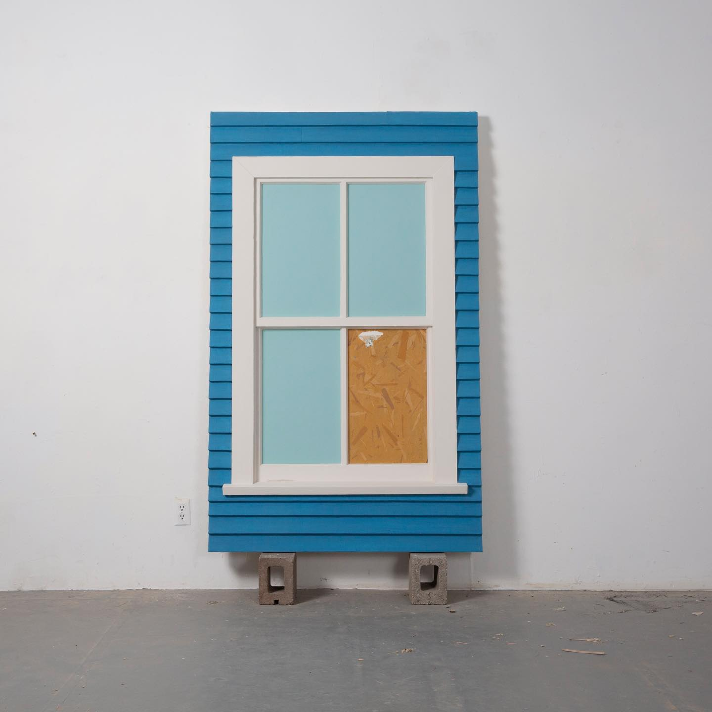 A blue window art Structure