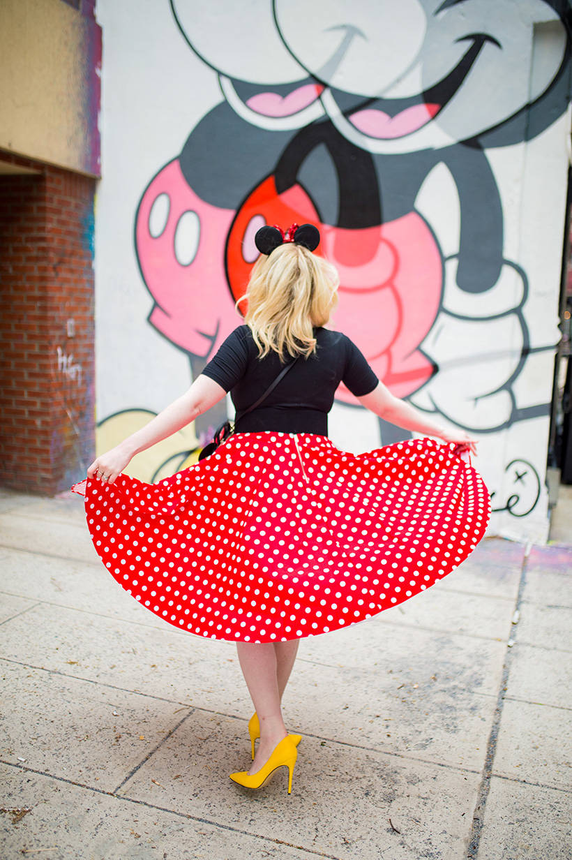 Minnie Mouse Polka Dot Skirt