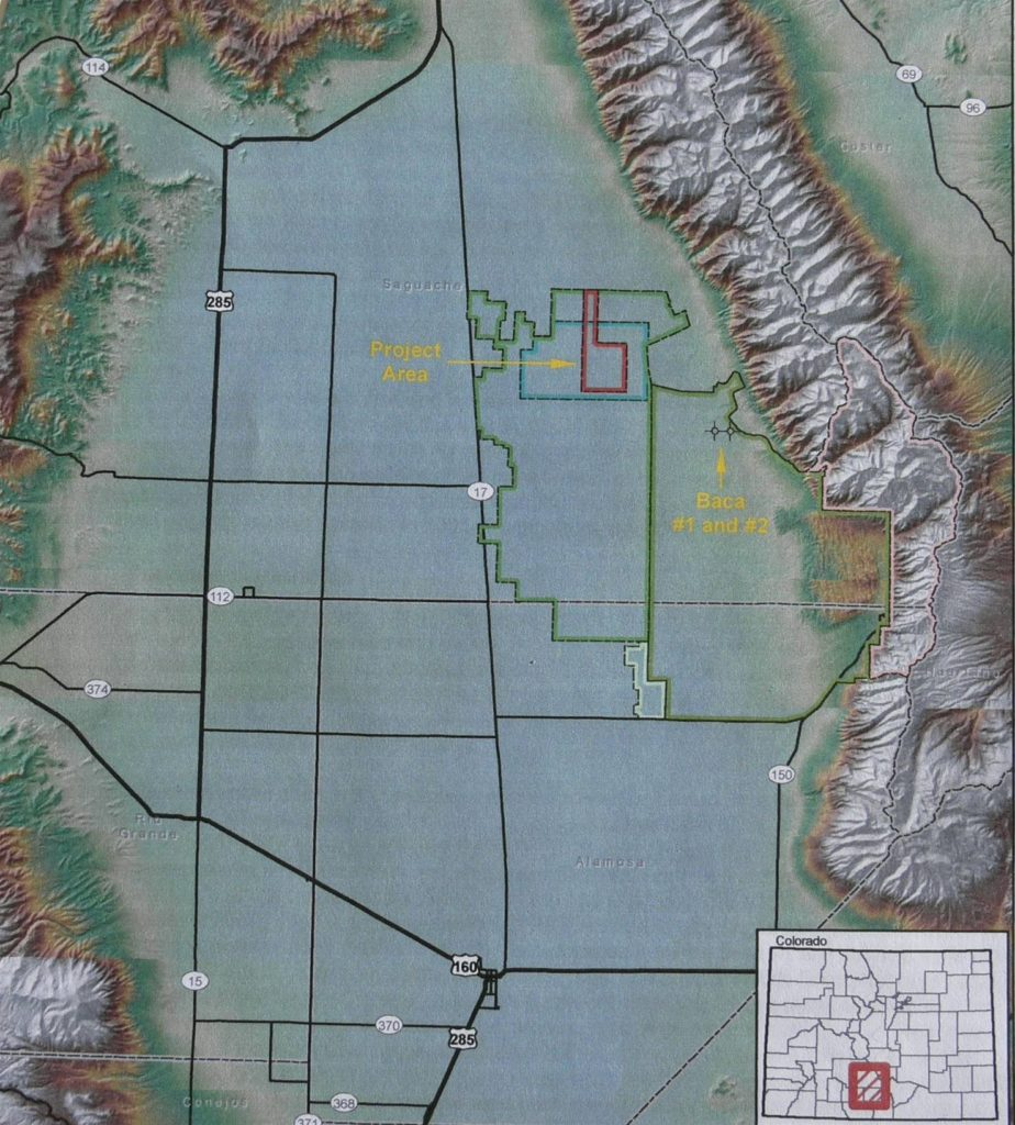 Figure 2. Location of San Luis Valley and Rio Grande Watershed in south-central Colorado