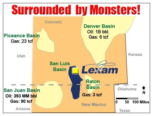 Figure 1. Map of major gas producing basins in southern Colorado