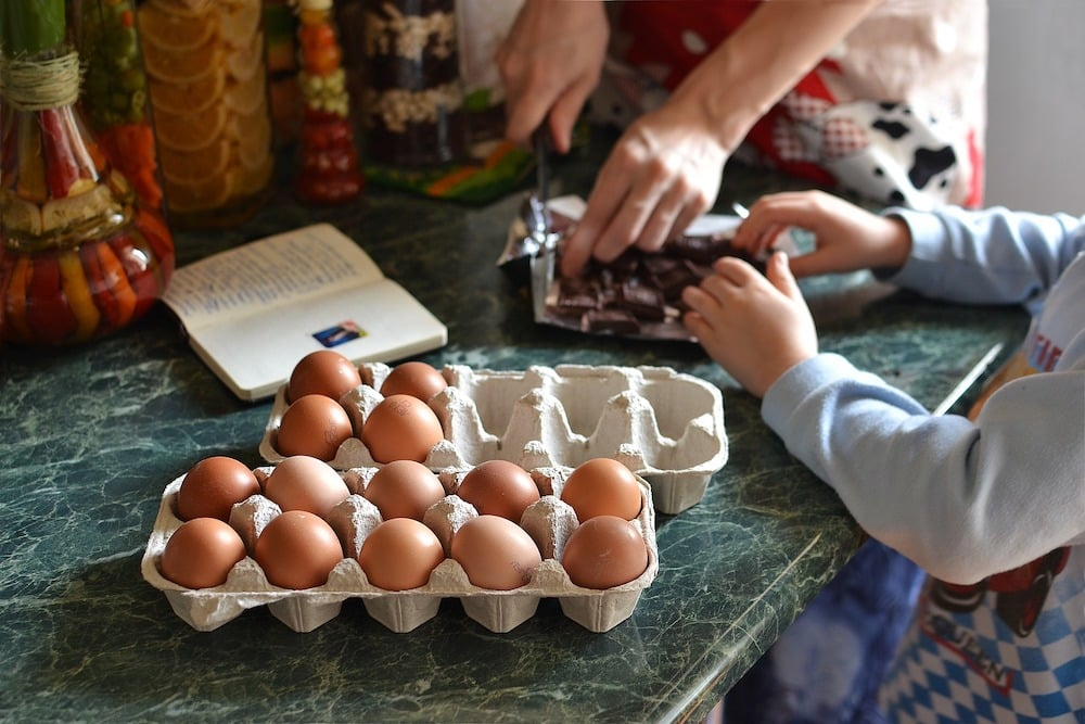 Work-at-home mom diet and productivity