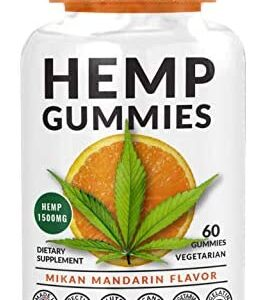 60ct Hemp Gummies // 25 mg per Gummy - Formulated to Relieve Stress, Pain, Anxiety and Hair Loss