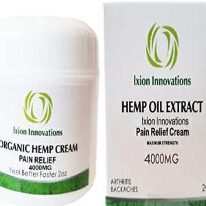 4000 MG Hemp Pain Relief Cream + Premium Hemp Oil Extract + Rub + Ointment + Salve + Aches + Soreness + Joint + Muscle strains + Organic + Natural Soothing Ingredients (1)