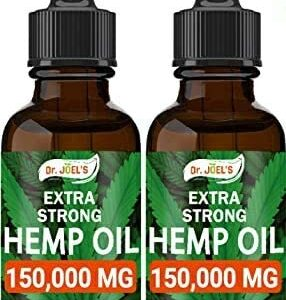 (2 Pack) Dr JOELS Premium Oil - 300,000 MG - Pain, Anxiety & Sleep Improvement - Skin, Hair, Brain and Mood Support - Made in The USA