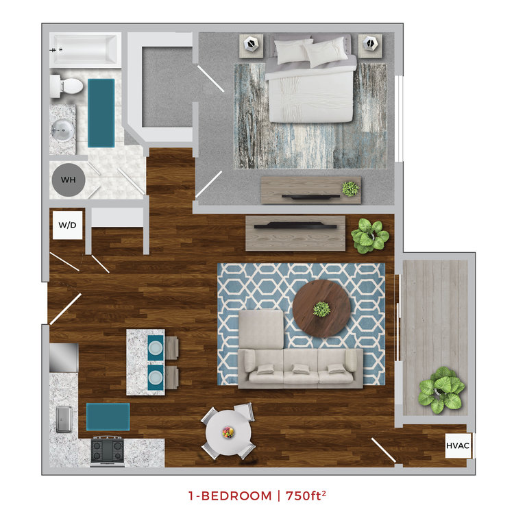 Terrace Lofts Apartments first floor plan layout graphic