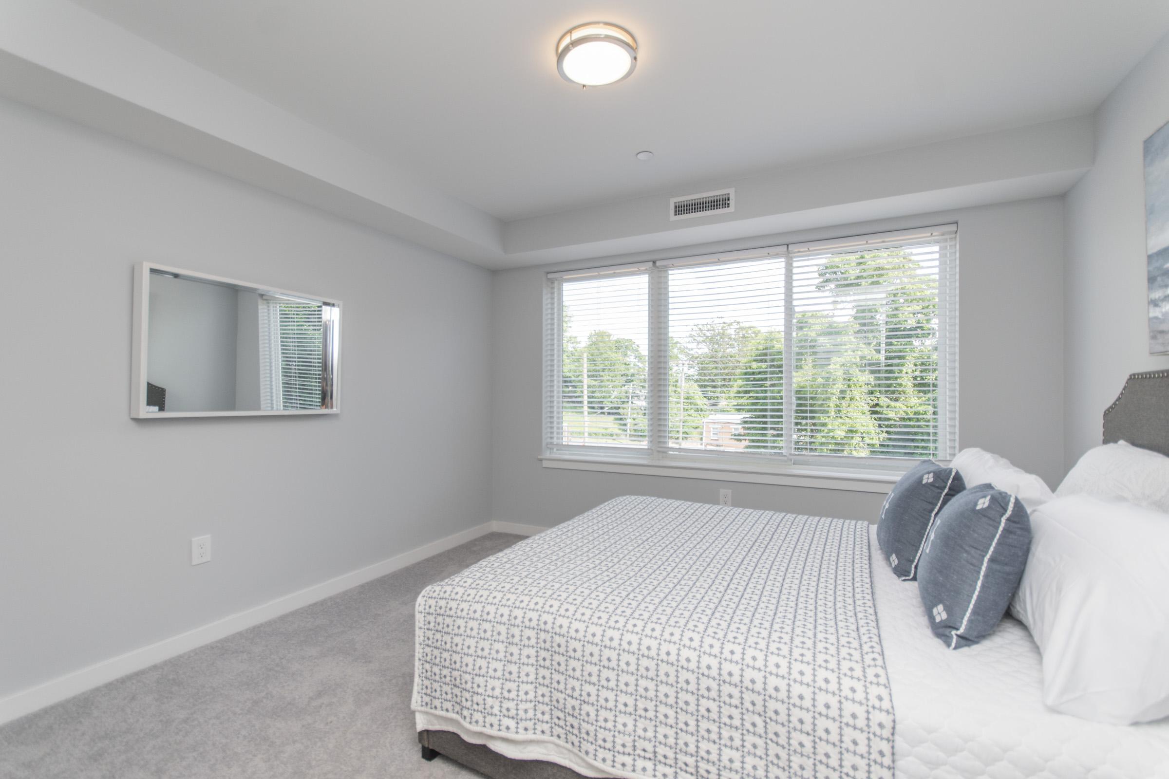 luxury bedroom in manayunk apartment