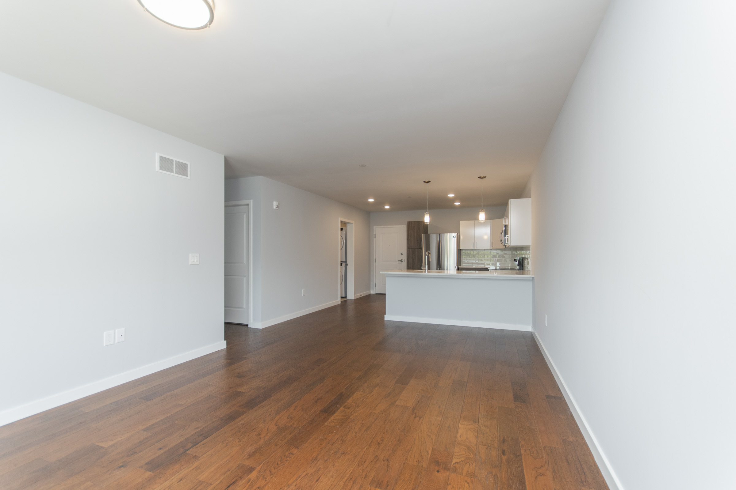 open living room plan in luxurious manayunk apartment