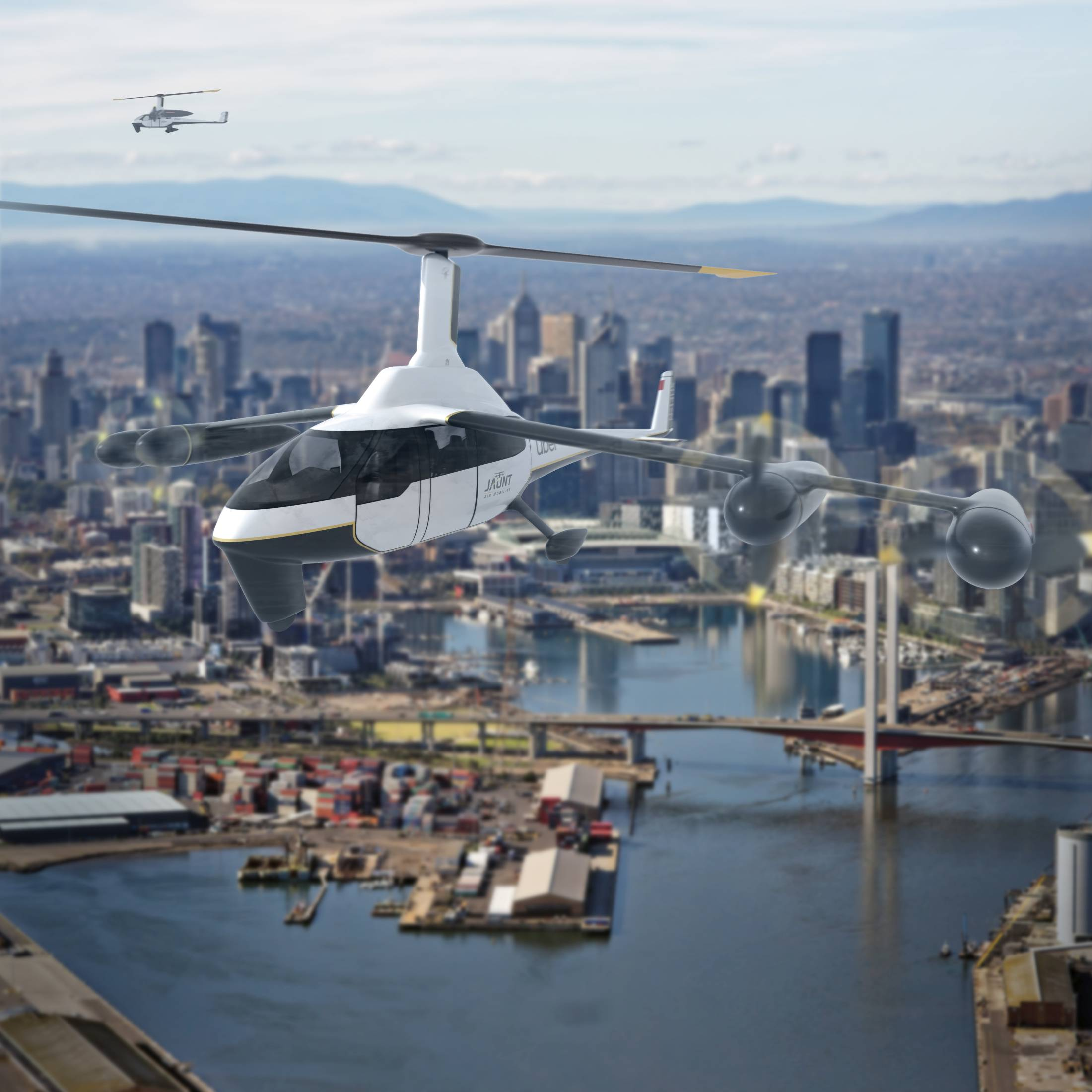 Jaunt Air Mobility Uber Elevate Air Taxi
