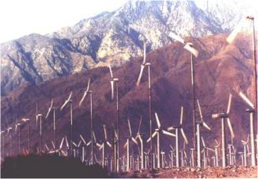 "2-bladed Carter Wind Turbines at San Gorgonio Pass Wind Farm, CA<br /> <a  href=""http://carterwindenergy.com/"">Visit CarterWindEnergy.com</a>"