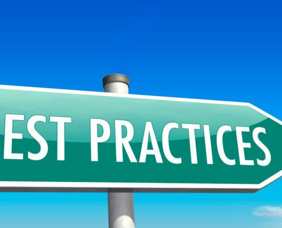 Best practices sign