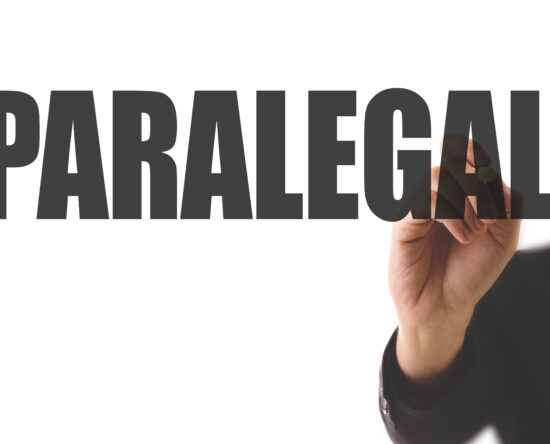 """Picture at man pointing at word """"paralegal"""""""