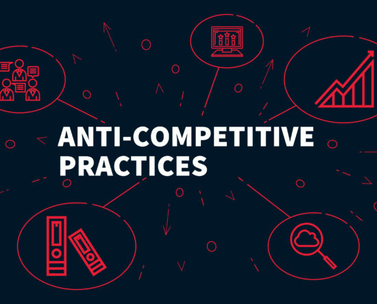 Logo saying anti-competitive practices