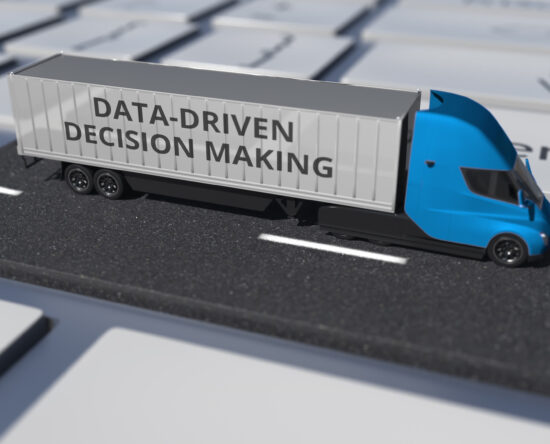Picture or truck with logo data-driven decisions