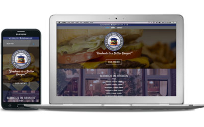 New Website And Menus For Georgetown's Burger University