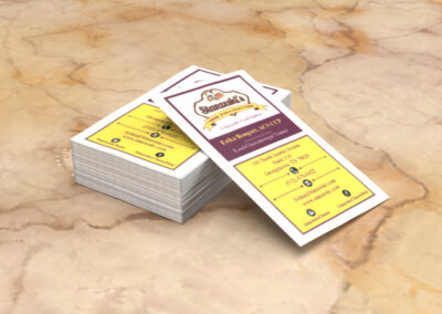 Stanzeski Wine and Cheese Business Cards
