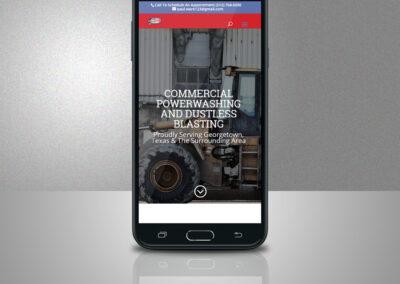 Lleven Powerwashing & Dustless Blasting Responsive Web Design