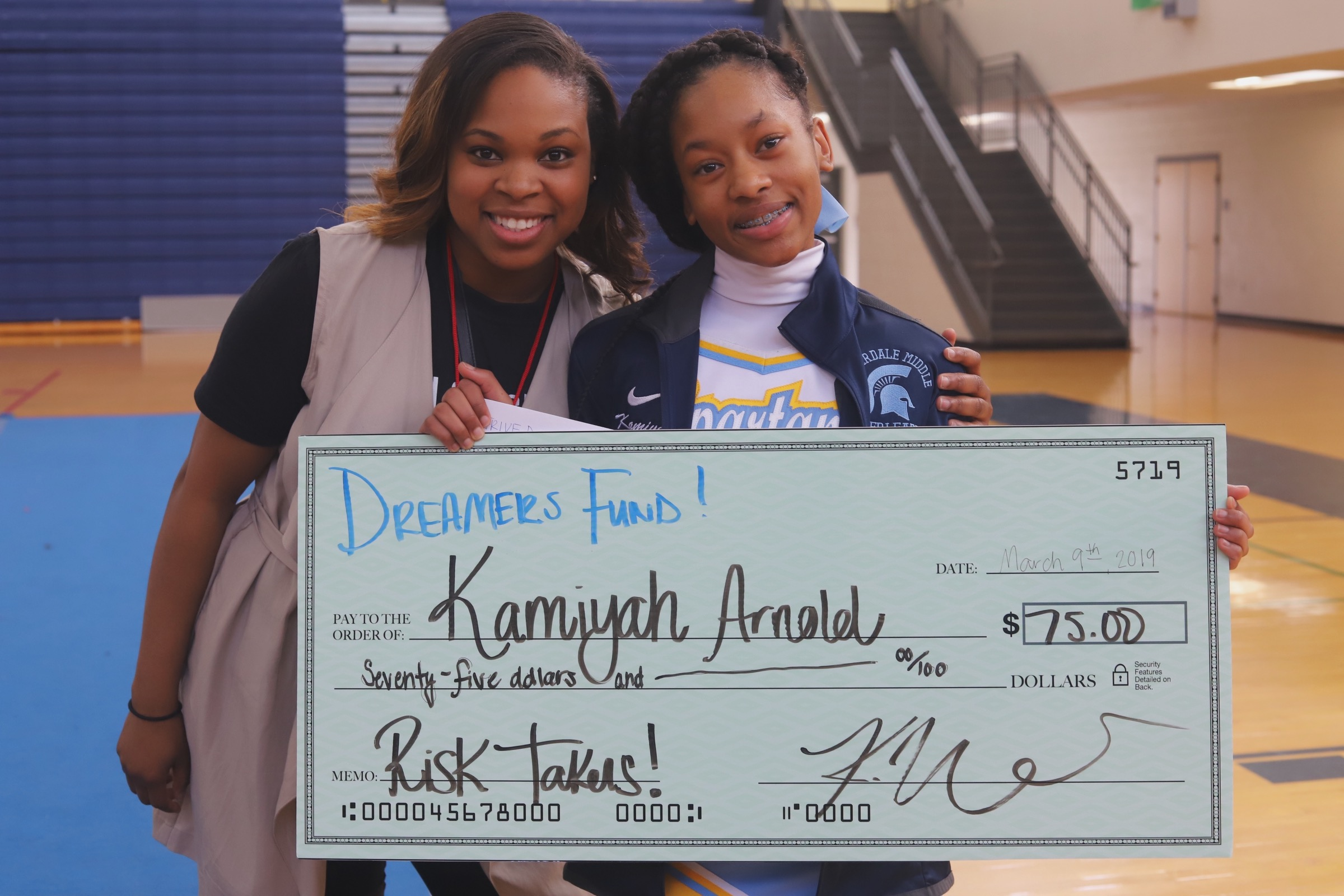 One of Our 4 Scholarship Recipients