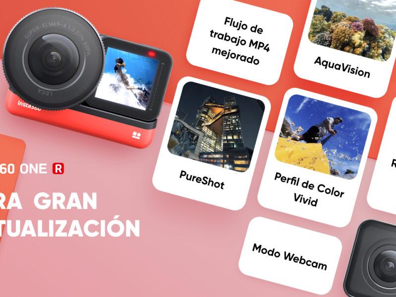 Gran actualización para la cámara Insta360 One R – Conoce todas las mejoras