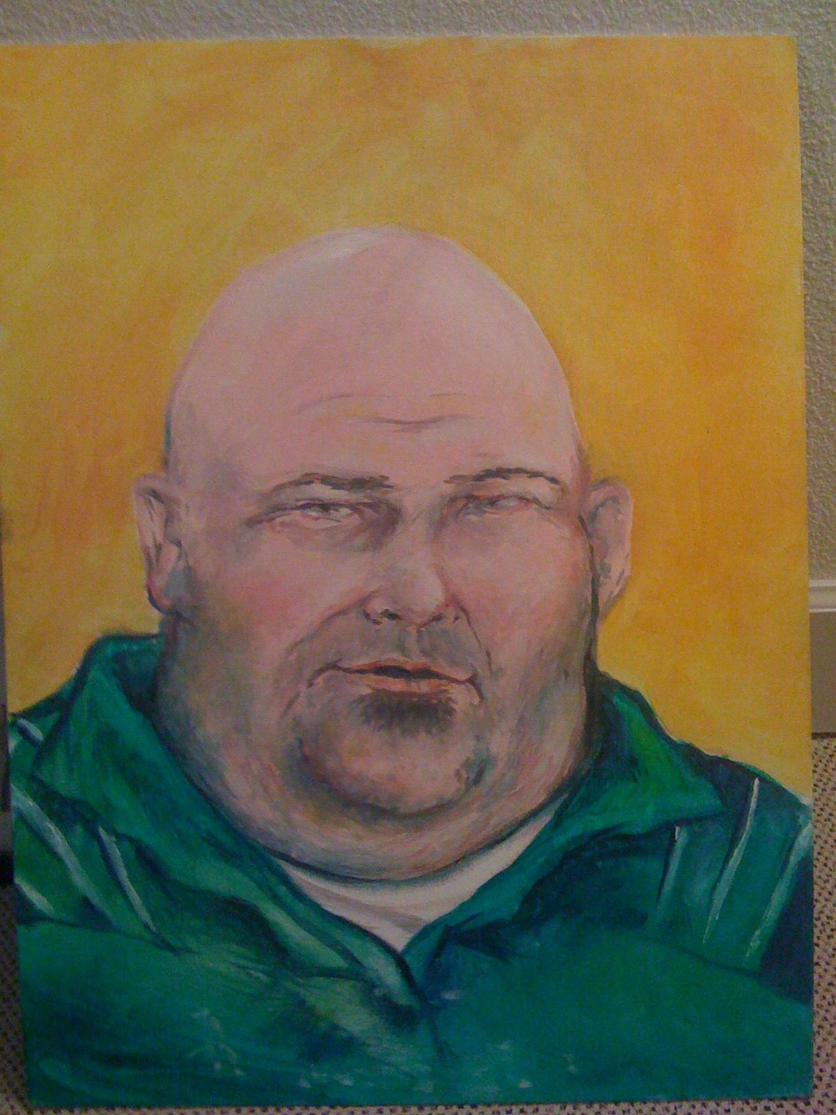 Alan Portrait oil on wood