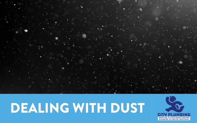 dust particles floating through the air