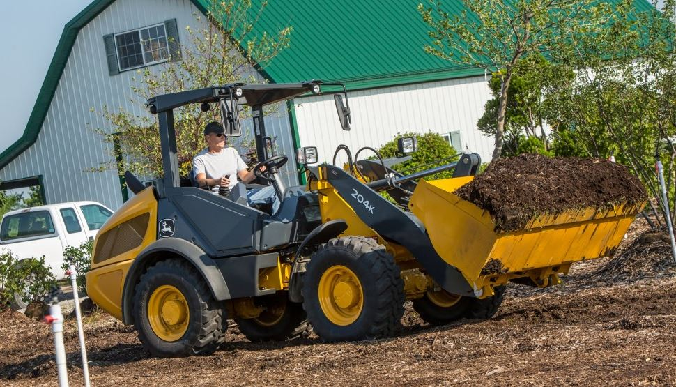 John Deere 204K Compact Wheel Loader Construction Equipment