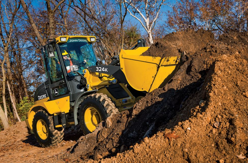 John Deere 324K Compact Wheel Loader Construction Equipment