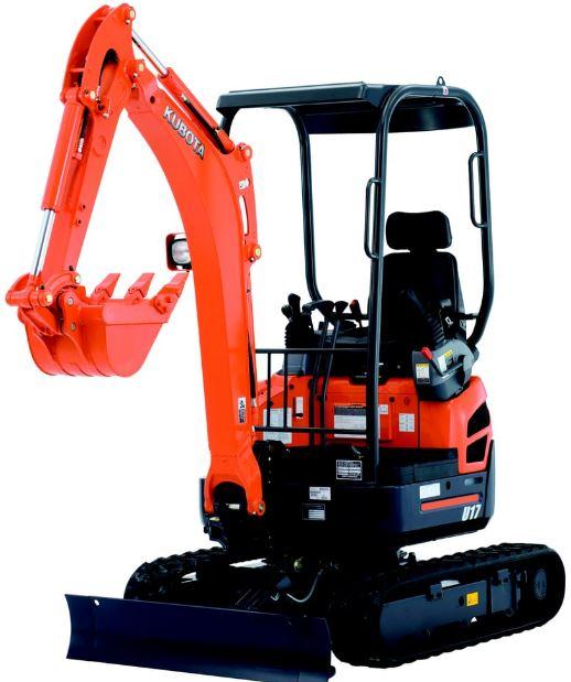 Kubota U17 Zero Tail Swing Compact Excavators Key Features