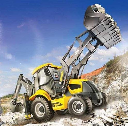 Mahindra EarthMaster 4WD Backhoe Loader Construction Equipment