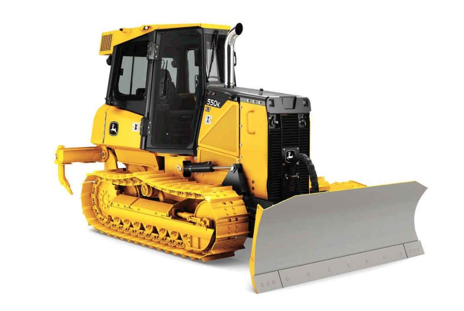 John Deere 550K Crawler Dozer Construction Equipment