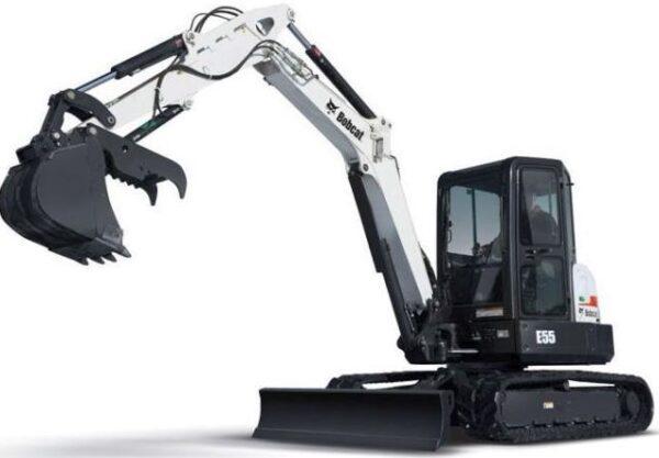 Bobcat E55 Mini Excavator Overview