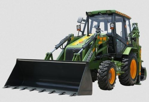 Escorts Jungli 4x4 Backhoe Loader Earthmoving Equipment