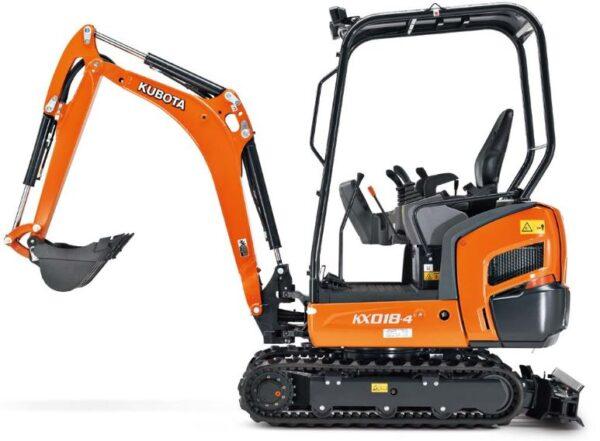 Kubota KX016-4 Mini Excavator Key Features