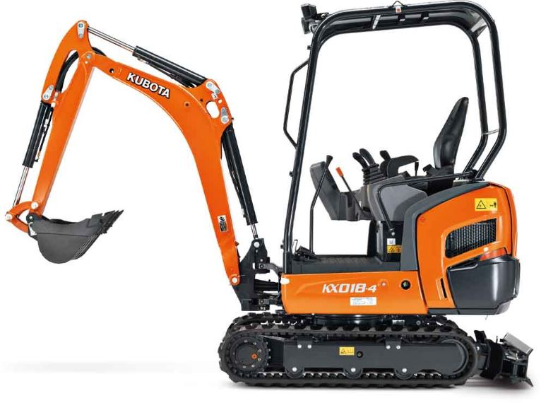 Kubota KX018-4 Mini Excavator Key Features
