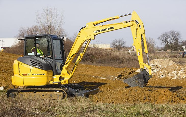 New Holland E55BX Mini Excavator price specs