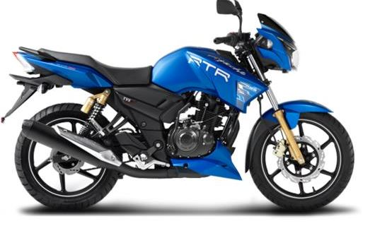 TVS Apache RTR 180 abs ex showroom price in india
