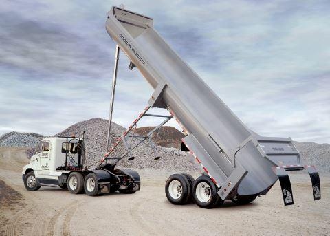 Semi-trailer end dump trucks