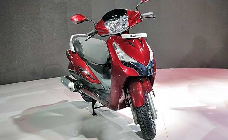 Hero Maestro Edge 125 Scooter Colors red