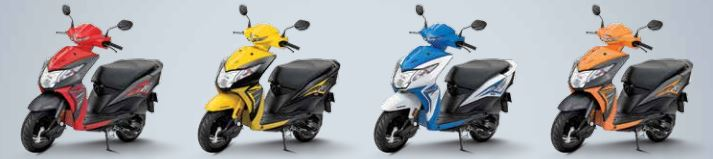 Honda Dio Standard Scooter Colors