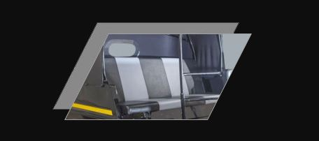 Atul Gemini Diesel Auto Rickshaw Ample space for passenger comfort