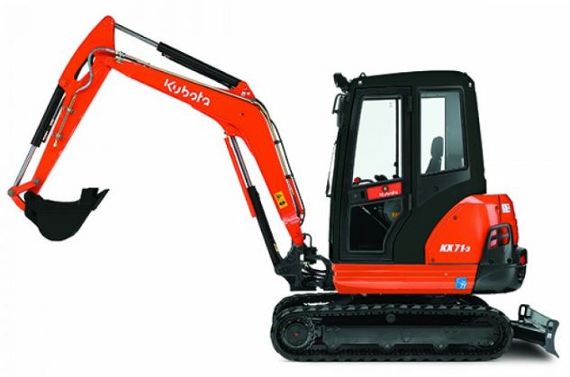Kubota KX71-3 Mini Excavator For Sale Price Lifting Chart Specs Weight & Review Video