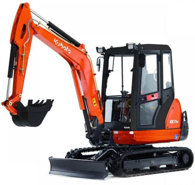 Kubota KX71-3 Mini Excavator Key Facts